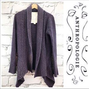 Anthropologie purple wool sweater- Medium